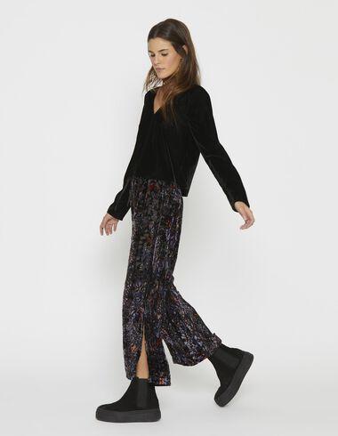 Girl's black velvet open blouse - View all > - Nícoli