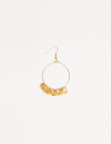 Pendiente aro circulos dorados - Pendientes - Nícoli