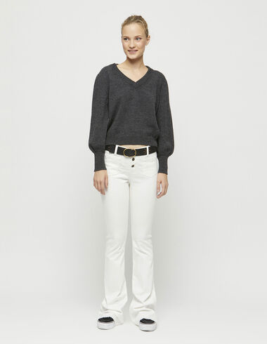White flared trousers - Trousers - Nícoli