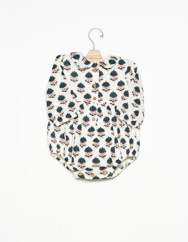 Ranita cuello bebé botones flor bicolor - Ver todo > - Nícoli