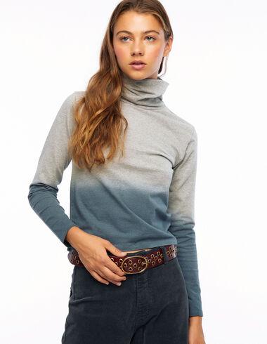 Camiseta cuello vuelto tie dye gris y verde - Ver todo > - Nícoli