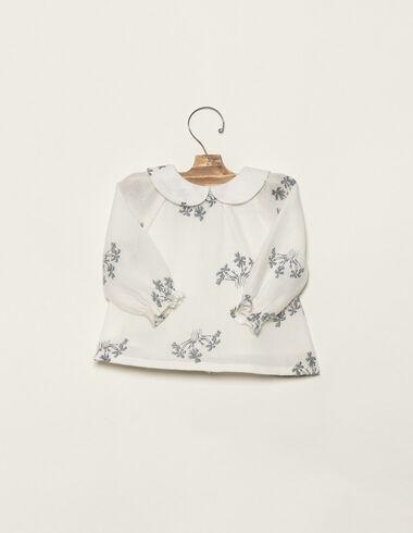 Chemise bouquets bleus - Chemises - Nícoli