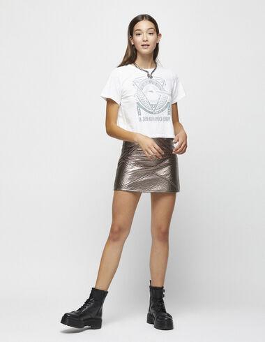 Falda metalizada rosa - Faldas - Nícoli