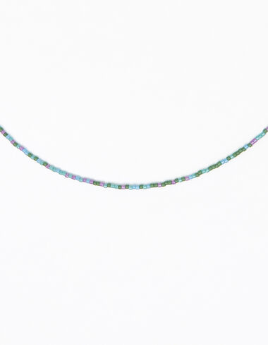 Purple beaded short necklace - Lost in Tarifa - Nícoli