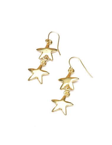 Boucles d'oreilles dorées Double Star - Golden Collection - Nícoli
