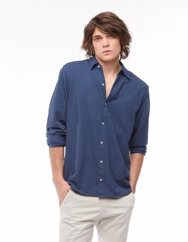 Dark blue polo shirt dress - View all > - Nícoli
