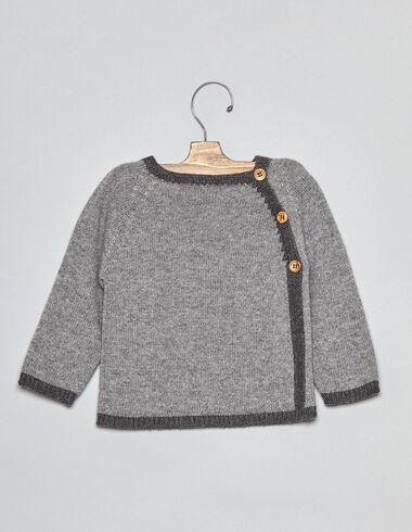 Jersery bebé bicolor gris - Ver todo > - Nícoli