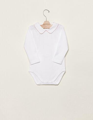 Body cuello bebé pespuntes rosa - Ver todo > - Nícoli