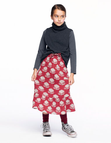 Jupe longue fleur indienne chaudron  - The Autumn Print - Nícoli