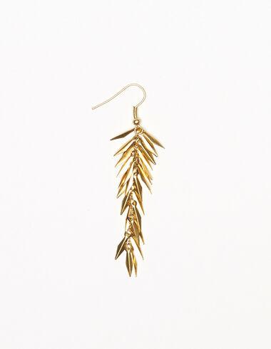 Boucle d'oreille petites feuilles dorée - Boucles d'orielles - Nícoli