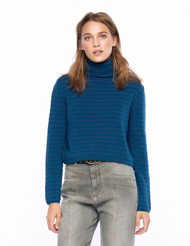 Jersey cuello vuelto raya verde y azul - Ver todo > - Nícoli