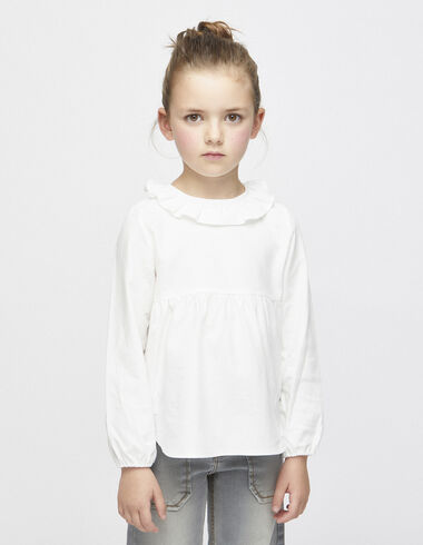 Off-white ruffle blouse - View all > - Nícoli