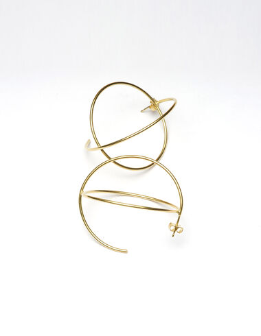 Gold orbit earrings - Golden Collection - Nícoli