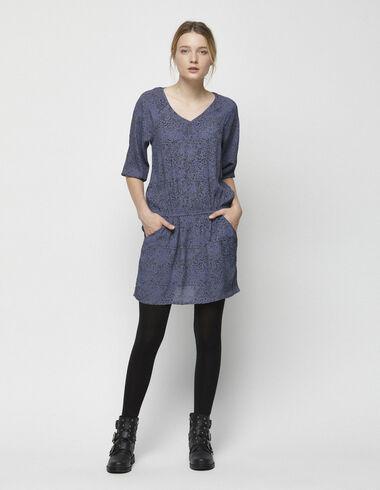 Blue snake drop waist dress - View all > - Nícoli