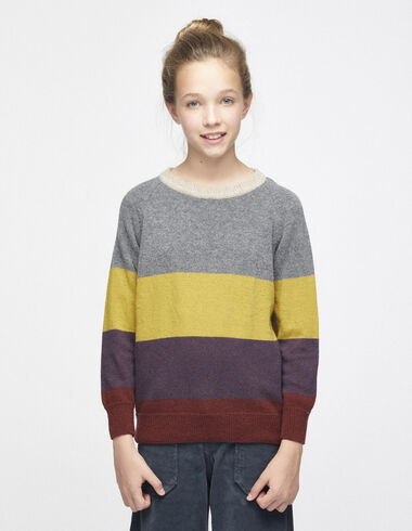 Girl´s multicolour striped jumper - View all > - Nícoli