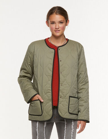 Green quilted jacket - Outerwear - Nícoli
