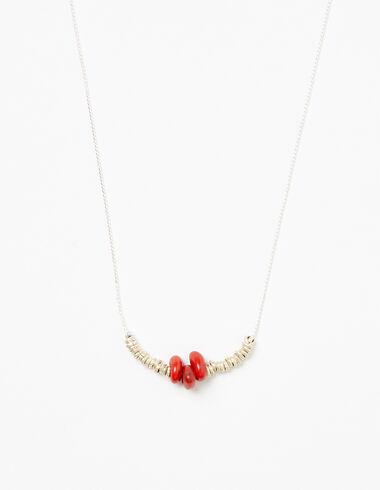 Collier pièces argent/rouge - Colliers - Nícoli