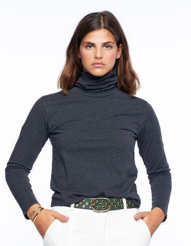 Camiseta cuello vuelto gris marengo - Ver todo > - Nícoli