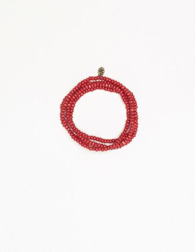 Long orange bead necklace - Necklaces - Nícoli