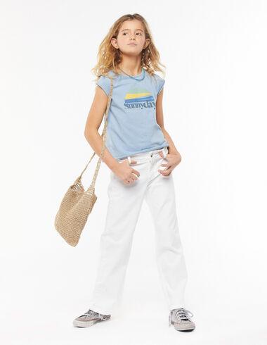 Pantalon large court blanc - Voir tout > - Nícoli