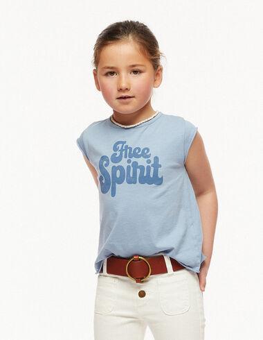Camiseta free spirit azul - Camisetas Solidarias - Nícoli