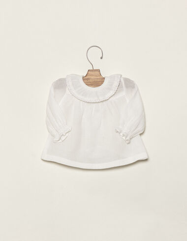 Off-white lace collar blouse - Shirts - Nícoli
