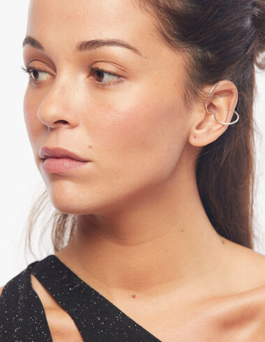 Circle earcuff in silver tone - View all > - Nícoli
