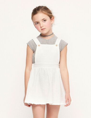Ecru pinafore dress with buttons - View all > - Nícoli