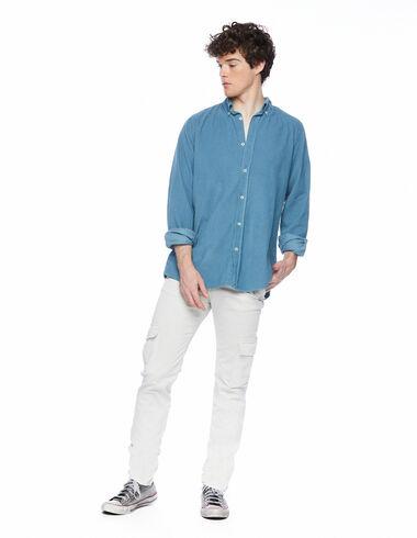 Pantalon chino long poches côtelé écru - Voir tout > - Nícoli