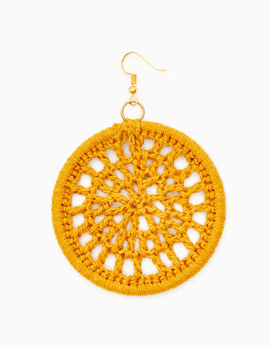 Mustard crochet earring - Accesories - Nícoli