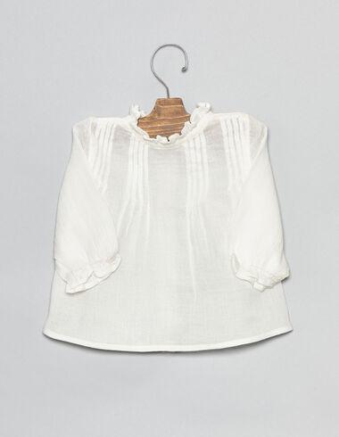 Camisa bebé cruda con detalle jaretas - Ver todo > - Nícoli