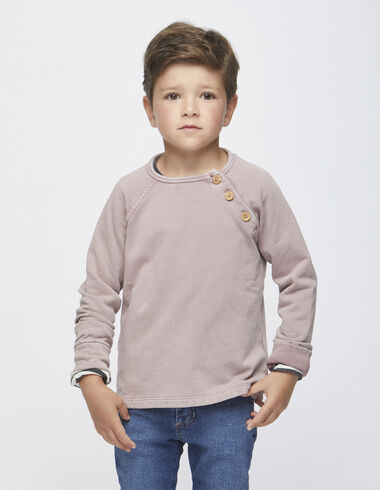 Berry sweatshirt with buttons - View all > - Nícoli