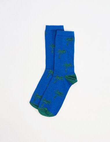 Chaussettes palmiers vertes et bleues - Voir tout > - Nícoli