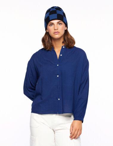 Camisa cuello perkins farol azul - Camisas - Nícoli