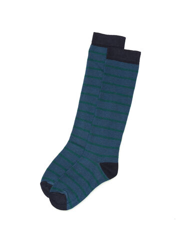 Green and blue striped socks - All About Socks - Nícoli