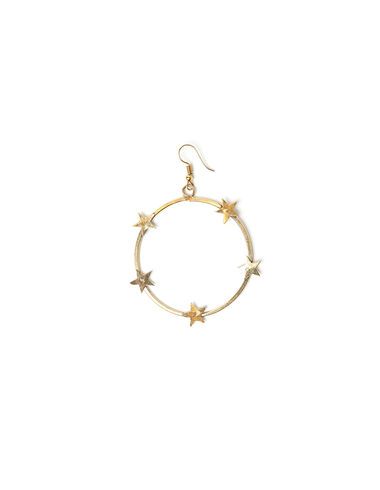 Star hoop earrings - View all > - Nícoli