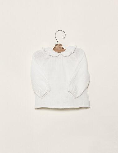 Ecru Peter Pan collar shirt - Shirts - Nícoli