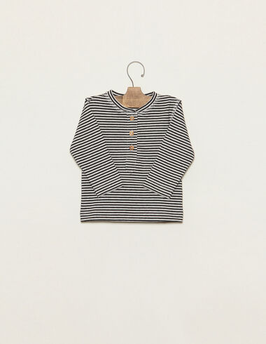 Anthracite striped t-shirt - Temporadas Anteriores - Nícoli