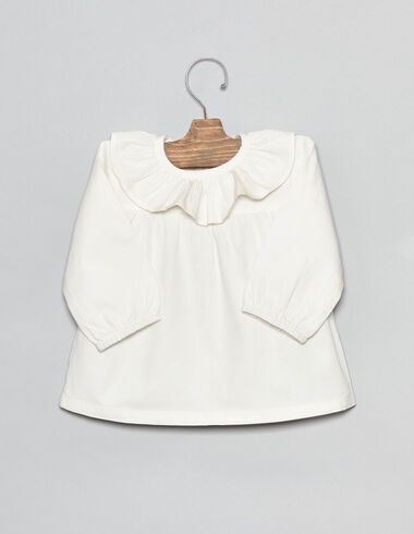 Chemise écrue à petits volants pour bébés - Chemises - Nícoli