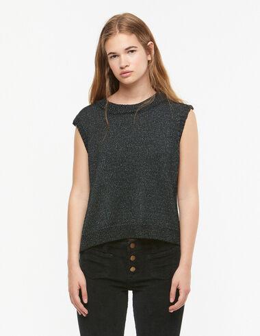 Pull sans manches métallisé vert - Pulls et Sweatshirts - Nícoli