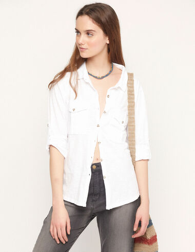 White shirt with pockets - View all > - Nícoli