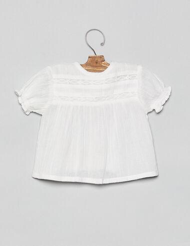 Camisa bebé encajes blanca - Camisas - Nícoli