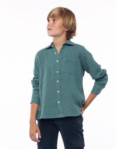 Chemise à col en V verte - Voir tout > - Nícoli