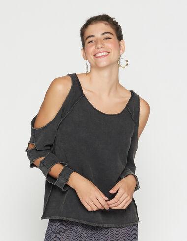 Sweatshirt anthracite pour filles - Voir tout > - Nícoli