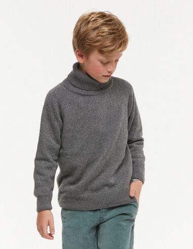 Grey turtleneck jumper - New Autumn knitwear - Nícoli