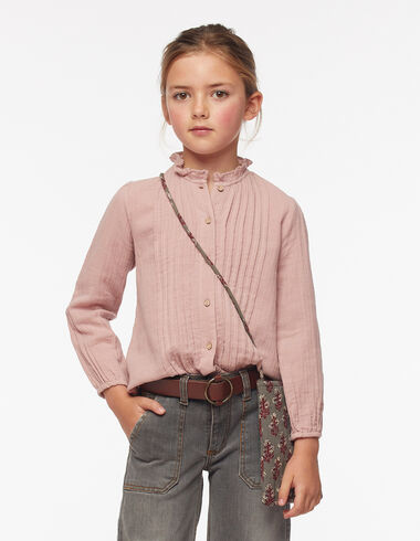 Camisa cuello perkins jaretas rosa - Ver todo > - Nícoli