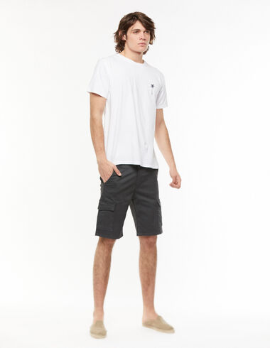 Anthracite short chinos with pockets - View all > - Nícoli