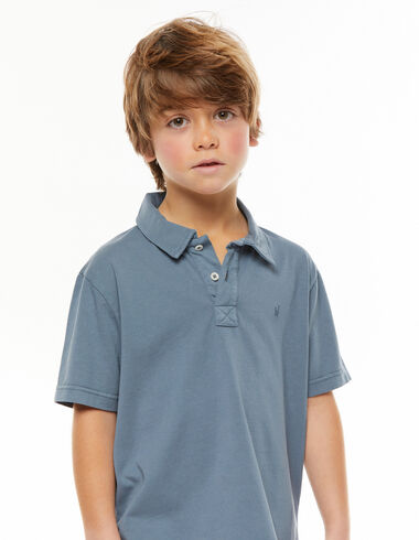 Faded blue polo shirt - View all > - Nícoli