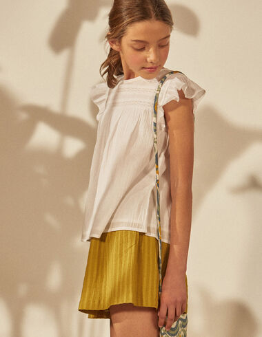 Girl's mustard striped skirt - Skirts - Nícoli
