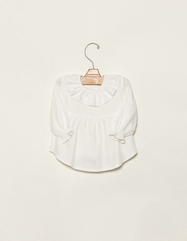 Off-white ruffle blouse - Shirts - Nícoli